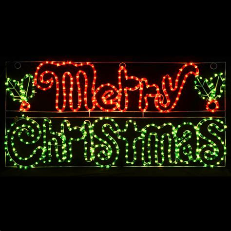 merry christmas light up sign indoor outdoor use rope light