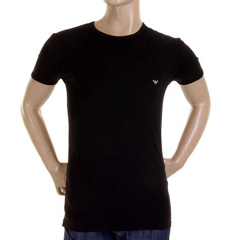 Tshirt Giorgio Armani Dealldo Merch emporio armani t shirt black crew neck t shirt 111317 1s516 eam1516 at togged clothing