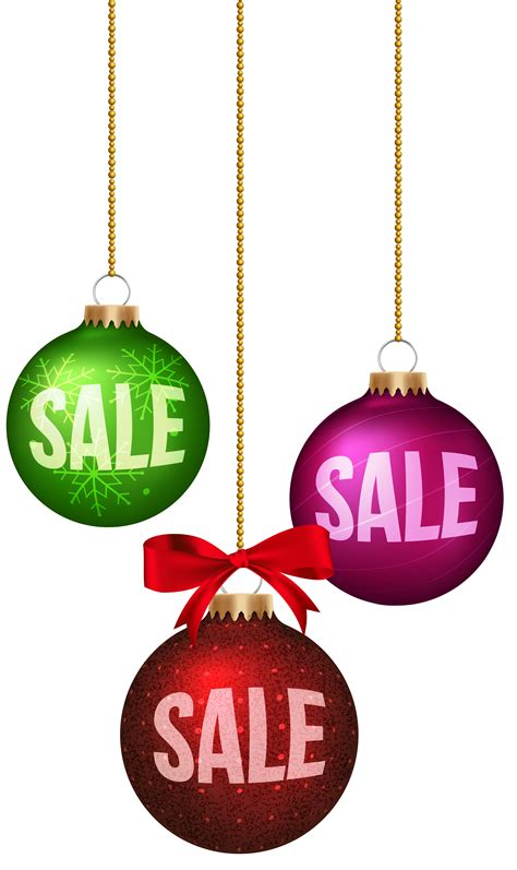 christmas balls sale decoration png clip art image
