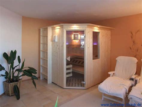 saunaraum gestalten standard sauna sonderanfertigung schreiner straub