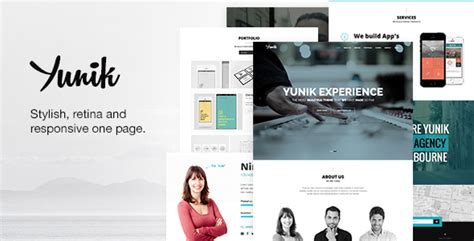 themeforest yunik yunik responsive multipurpose drupal 7 theme by