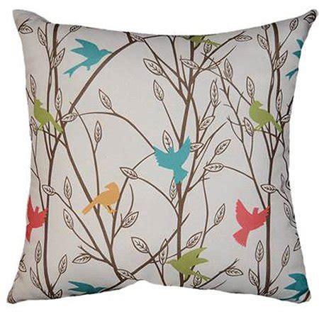 walmart pillows decorative mainstays bird song decorative pillow walmart