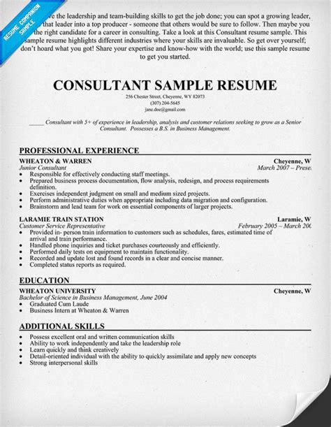 28 sle consultant resume tax consultant resume sle resumecompanion financial
