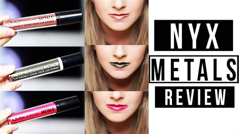 nyx speed of light nyx cosmic metals lip cream review and swatches youtube