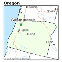 salem oregon map best places to live in salem oregon