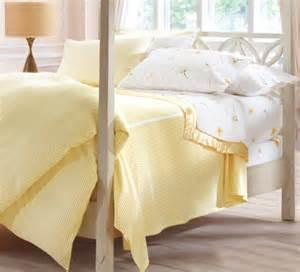 Gingham Duvet Cover Seersucker Striped Bedding Yellow White Traditional