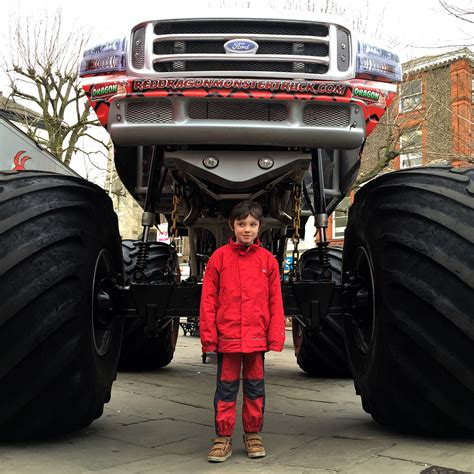 monster truck show today monster truck parks itself in parliament street for one