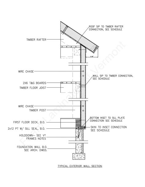 timber frame section detail structural insulated panel drawings