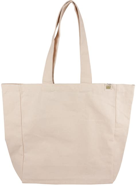 eco bag ecobags recycled cotton reusable shopping bag with pocket