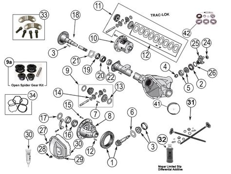 axle parts jeep liberty model 35 rear axle parts 02 12 kj morris