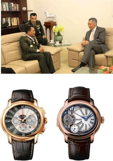 Jam Tangan H T panglima tni dengan koleksi jam tangan kaki limanya oleh
