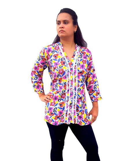 Tunik Rayon 1 buy bpt white rayon tunics at best prices in india snapdeal