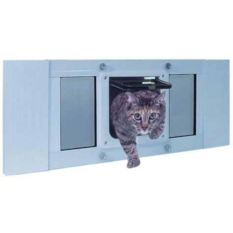 pet by ideal cat flap sash window cat door for
