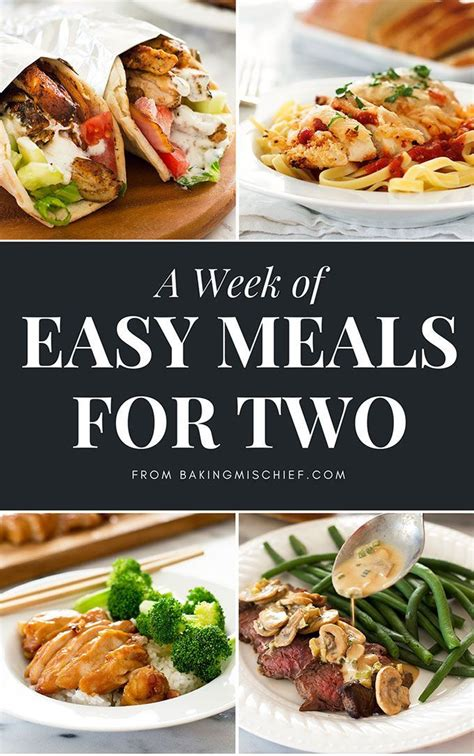 easy dinner for 8 best 25 meals for two ideas on recipes for