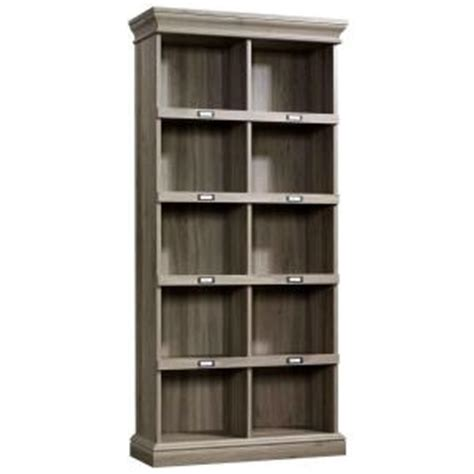sauder salted oak 5 shelf bookcase sauder barrister lane collection 5 shelf vertical bookcase