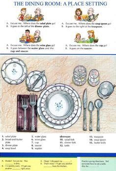 dining room photo picture definition at photo dictionary esl place settings and vocabulary on pinterest