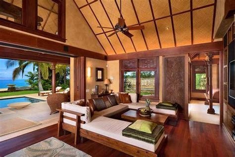 tropical living room design and decoration concepts