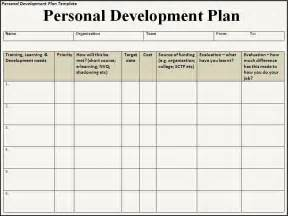 Template For A Personal Development Plan 6 free personal development plan templates excel pdf formats