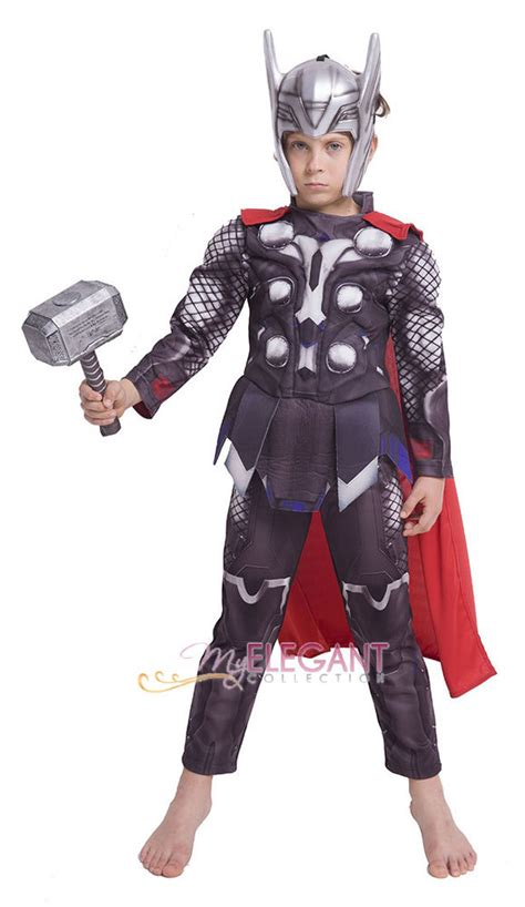 marvel the thor child costume licensed boys ebay marvel ultron thor children boys costume 3 8 year ebay
