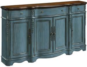 blue credenza mannboro teal blue 4 door 3 drawer credenza 70754 coast