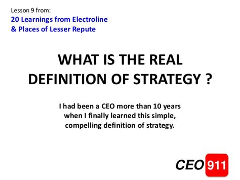 what is the real meaning of the real definition of strategy
