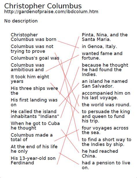 christopher columbus biography enchanted learning christopher columbus worksheets columbus day spelling