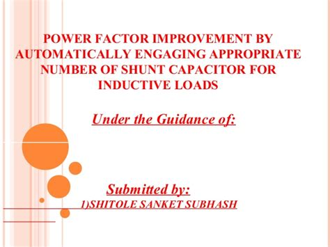 why are capacitors used for power factor improvement why are capacitors used for power factor improvement 28 images power factor and its