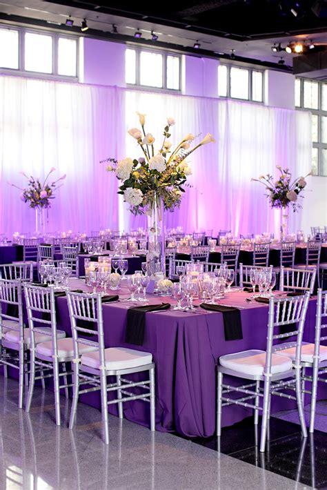 black purple and silver wedding decorations tidbits on weddings by destination planner designer