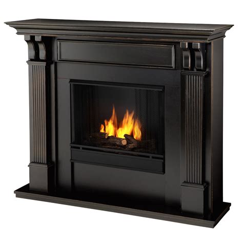 Indoor Gas Fireplace Ventless by Real Indoor Ventless Gel Fireplace In Black Wash