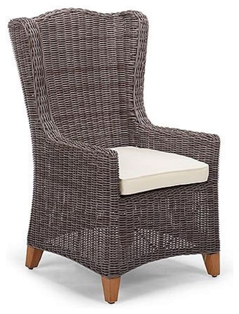 Outdoor Cing Chairs by Vintage Wingback Outdoor Dining Chair With Cushion Patio