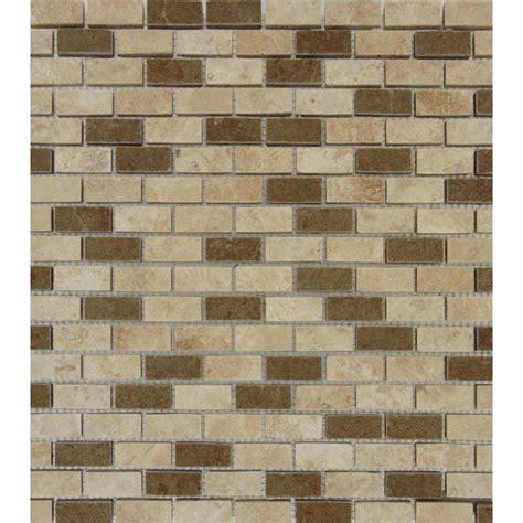ms international chiaro brick 12 in x 12 in x 10 mm ms international noce chiaro mini brick 12 in x 12 in x