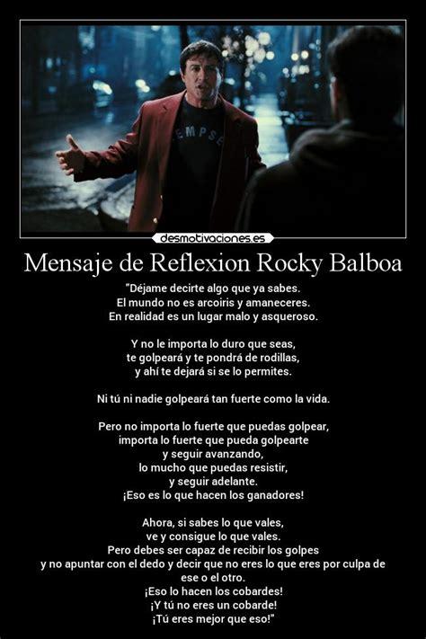 imagenes de reflexion rocky balboa mensaje de reflexion rocky balboa desmotivaciones