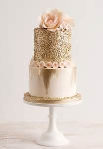 Wedding Cake Gold Blush Wedding 23 Impossibly Romantic Ideas