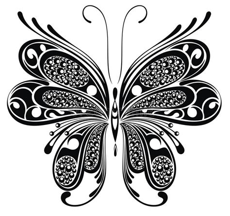 small black and white butterfly tattoos black butterfly design stock vector illustration