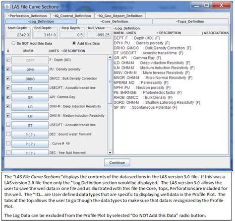 File Format Las | help load log ascii standard las file versions 2 0 3 0