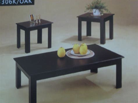 Coffee Table End Tables 3306k Black Coffee Table 2 End Table Set Furniture Outlet Llc In Pickerington Ohio 1272 Hill