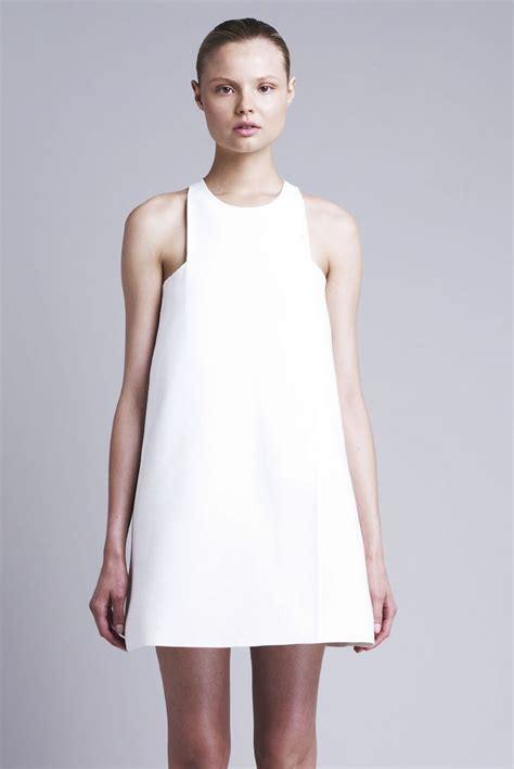 Minimal Dress chic white dress minimal fashion modern simplicity