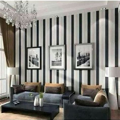wallpaper motif garis hitam putih jual wallpaper dinding garis hitam putih wallpaper candy