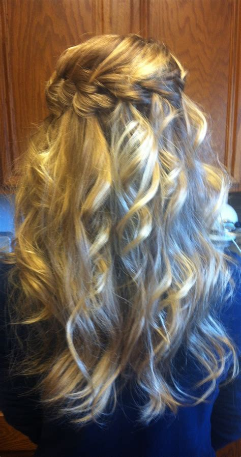 heatless braid hairstyles heatless waves with waterfall braid hair pinterest