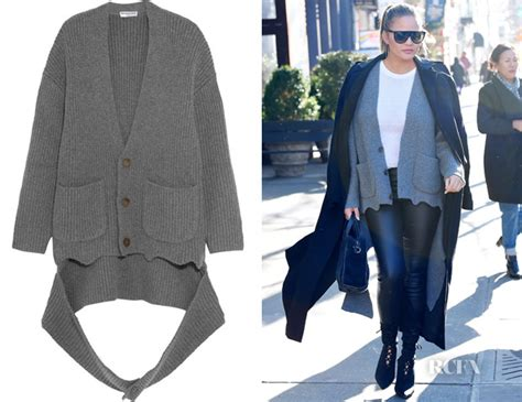 oversized draped cardigan chrissy teigen s balenciaga oversized draped cardigan