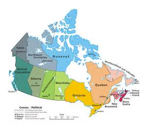 map of canada showing provinces and capital cities canada