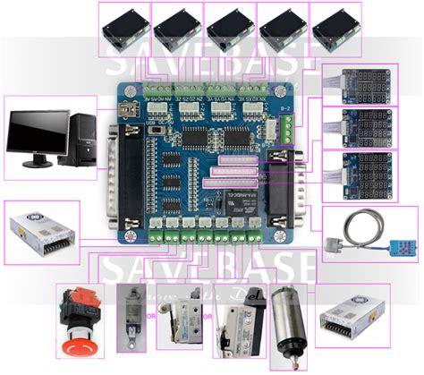 5 axis cnc breakout board interface adapter fr stepper