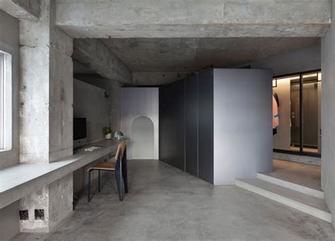 concrete floor apartment concrete apartment airhouse design office saat fashion