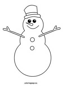 snowman free coloring pages