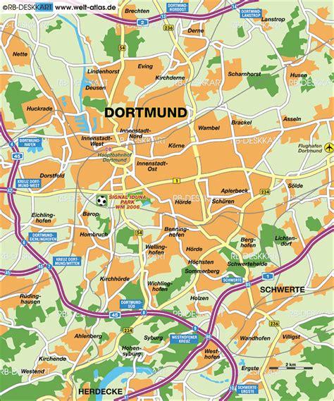 dortmund map of germany map of dortmund germany rhine westphalia map in