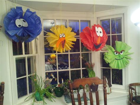 Sesame Decorations by Sesame Balloon Decorations Favors Ideas
