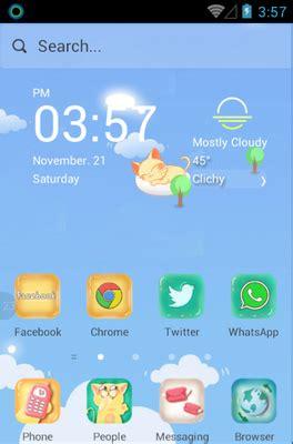 hola launcher themes hello kitty kitty blue android theme for hola launcher androidlooks com