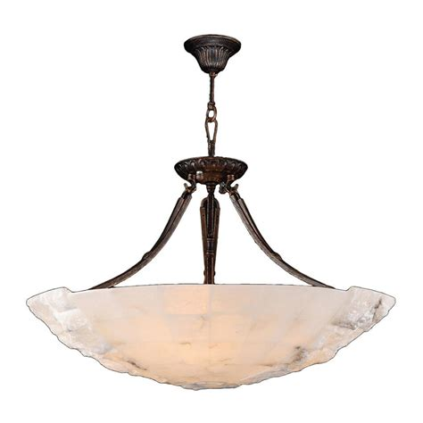 large bowl pendant light fixtures worldwide lighting pompeii 5 light flemish brass natural