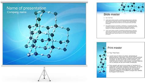 molecular model powerpoint template backgrounds id