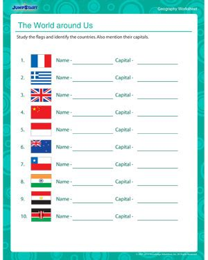 the world around us free 5th grade geography worksheet